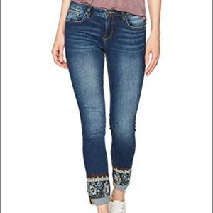 Miss Me's Ankle Skinny Embroidered Jeans